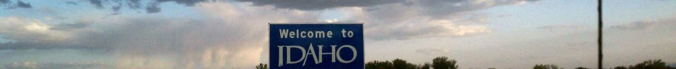 The welcome to Idaho sign